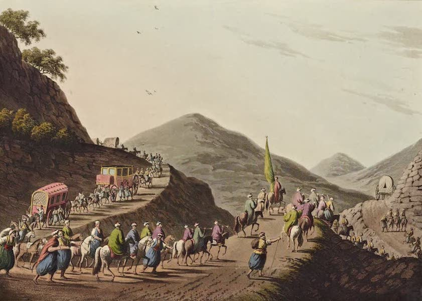 Views in the Ottoman Dominions - Road over the Balkan Mountain (1810)