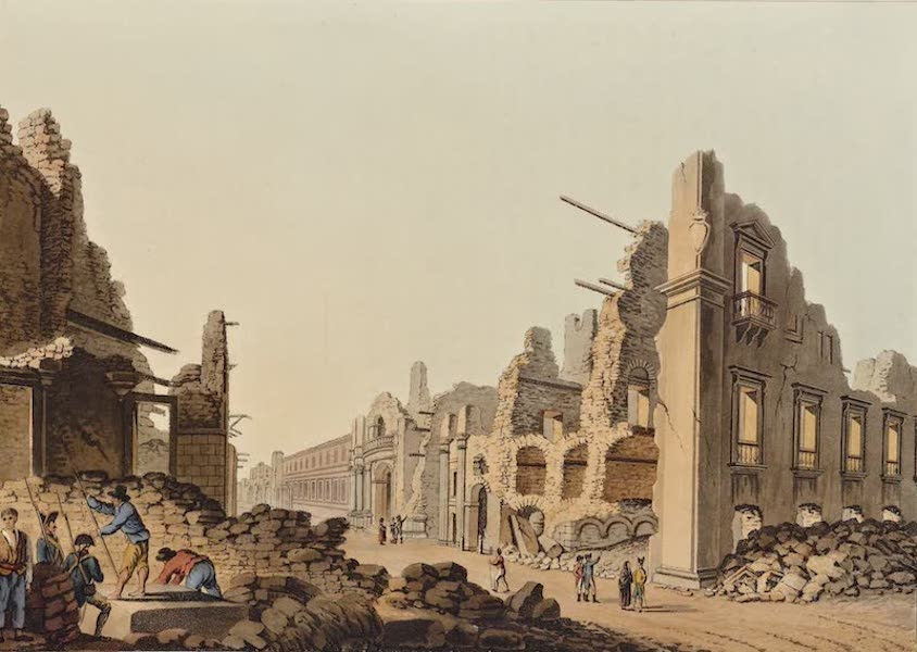 Views in the Ottoman Dominions - Ruins occasioned by the Earthquake at Messina (1810)