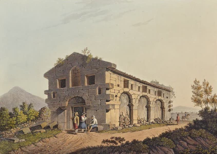 Views in the Ottoman Dominions - Ancient Bath near the Fountains of the Palici (1810)