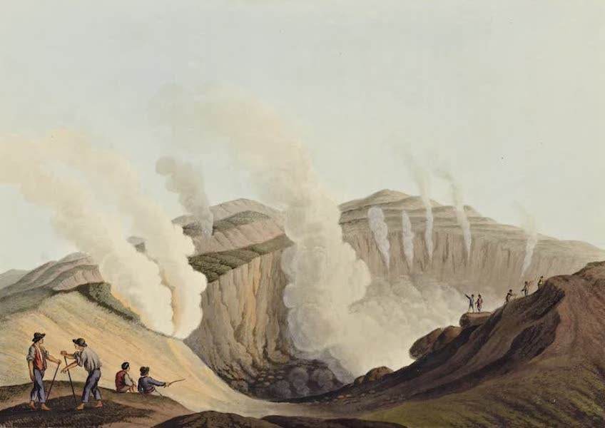 Views in the Ottoman Dominions - Crater in the Island of Volcano (1810)