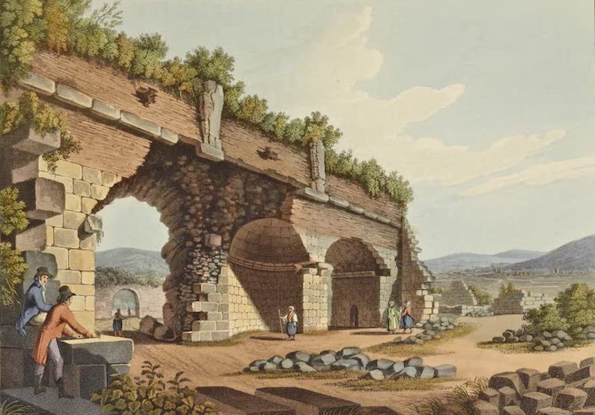 Views in the Ottoman Dominions - Part of the Grand Gallery of the Temple of Diana (1810)
