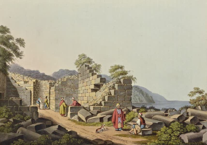Views in the Ottoman Dominions - Ruins of an ancient Temple in Samos (1810)