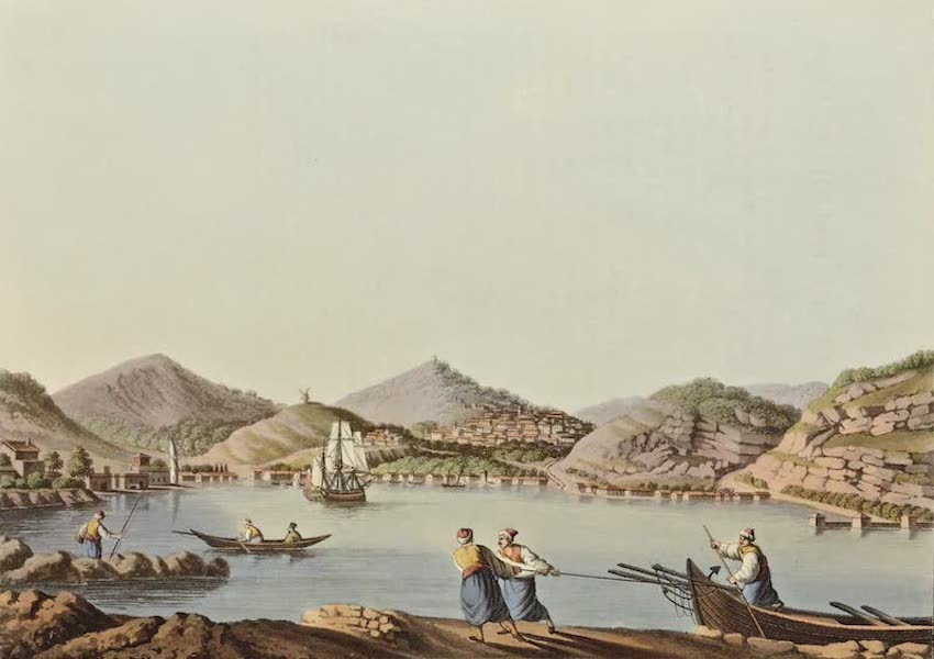 Views in the Ottoman Dominions - Western Harbour of the Island of Samos (1810)