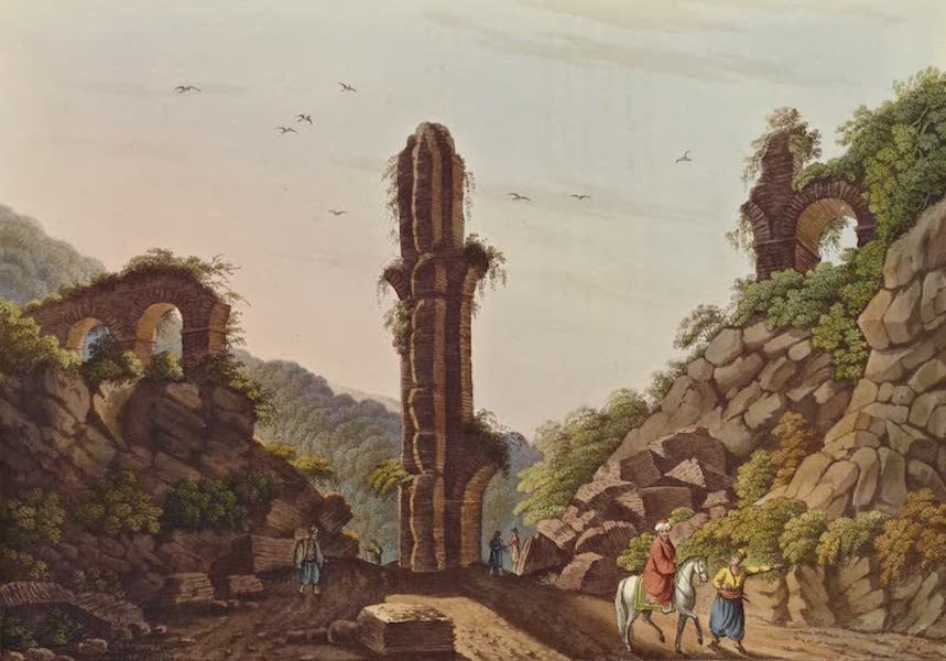 Views in the Ottoman Dominions - Ancient Aqueduct in Samos (1810)