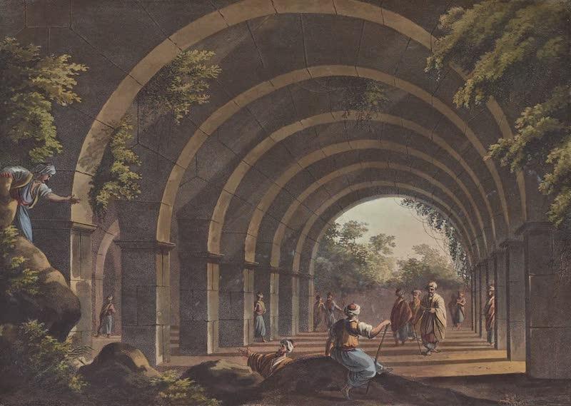 Views in the Ottoman Empire - An ancient Bath at Cacamo in Caramania (1803)