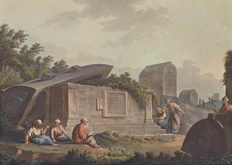 Views in the Ottoman Empire - A colossal Sarcophagus at Cacamo in Caramania (1803)