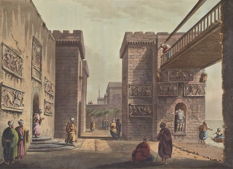 Views in the Ottoman Empire - The Castle of Boudron in the Gulf of Stancio (1803)