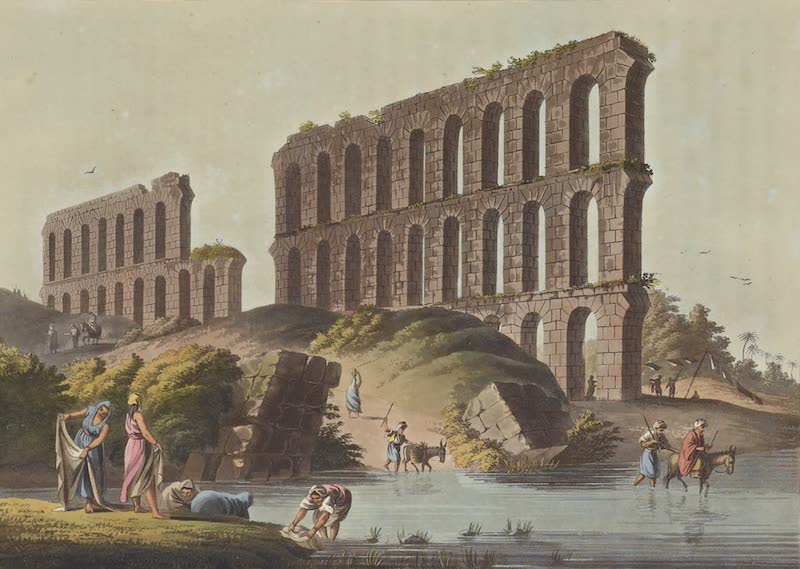 Views in the Ottoman Empire - Ruins of the Grand Aqueduct of ancient Cathage (1803)