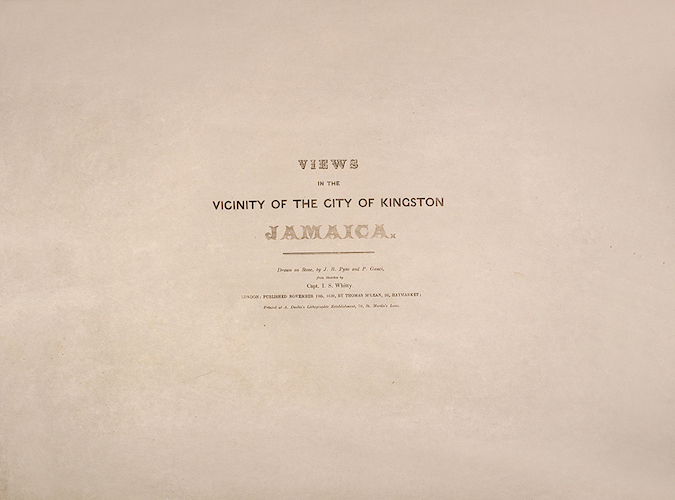 Views in the Vicinity of the City of Kingston, Jamaica (1839)