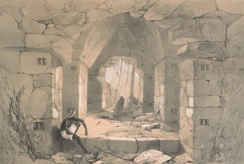Views of Ancient Monuments in Central America - Interior Of Casa No. III. Palenque (1844)