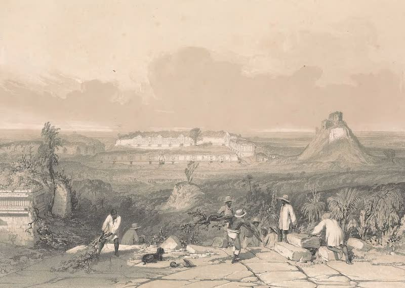 Views of Ancient Monuments in Central America - General View of Las Monjas at Uxmal (1844)