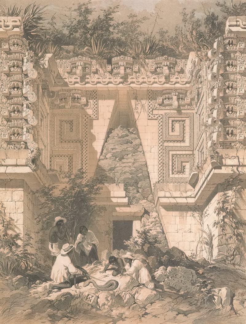Views of Ancient Monuments in Central America - Archway, Casa Del Gobernador, Uxmal (1844)