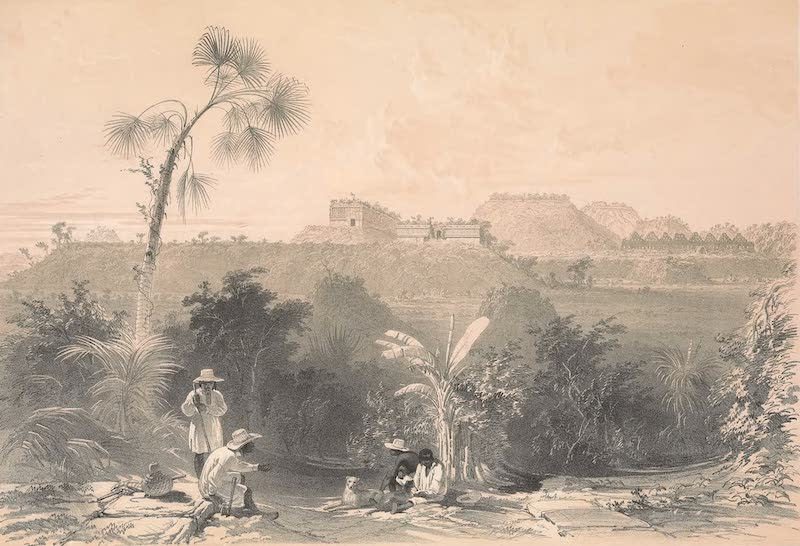 Views of Ancient Monuments in Central America - General View of Uxmal, Taken From the Archway of Las Monjas, Looking South (1844)