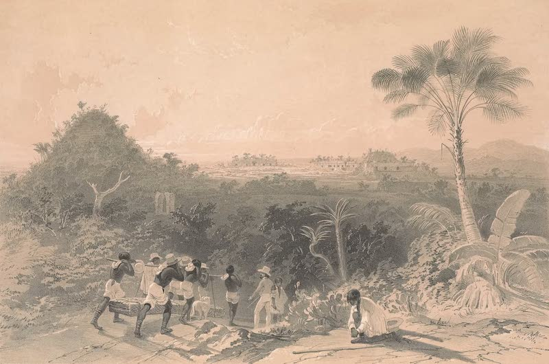 Views of Ancient Monuments in Central America - General View of Kabah (1844)