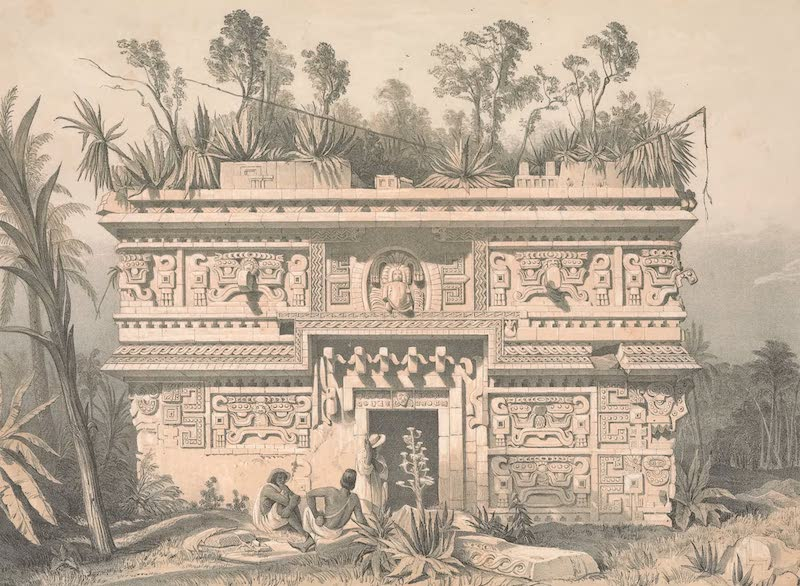 Views of Ancient Monuments in Central America - Las Monjas, Chichen-Itza (1844)