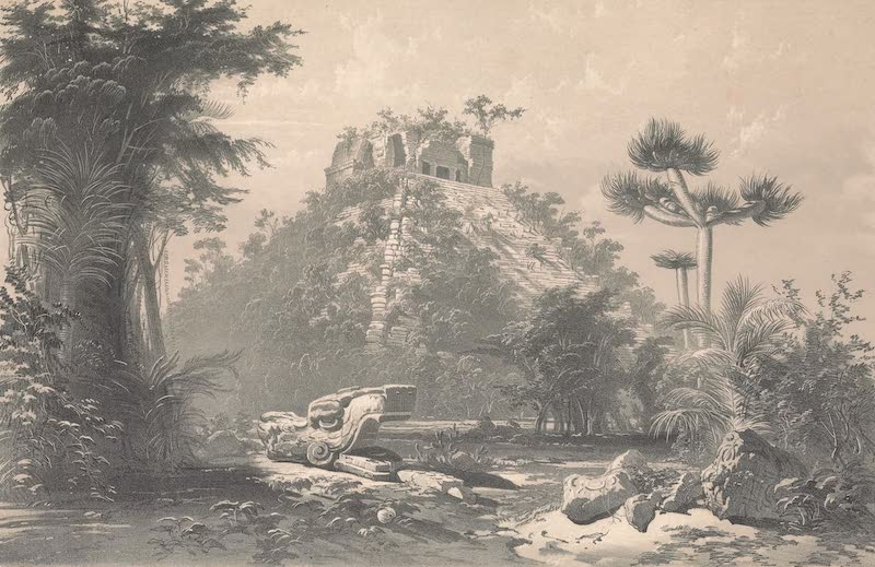 Views of Ancient Monuments in Central America - Teocallis at Chichen-Itza (1844)