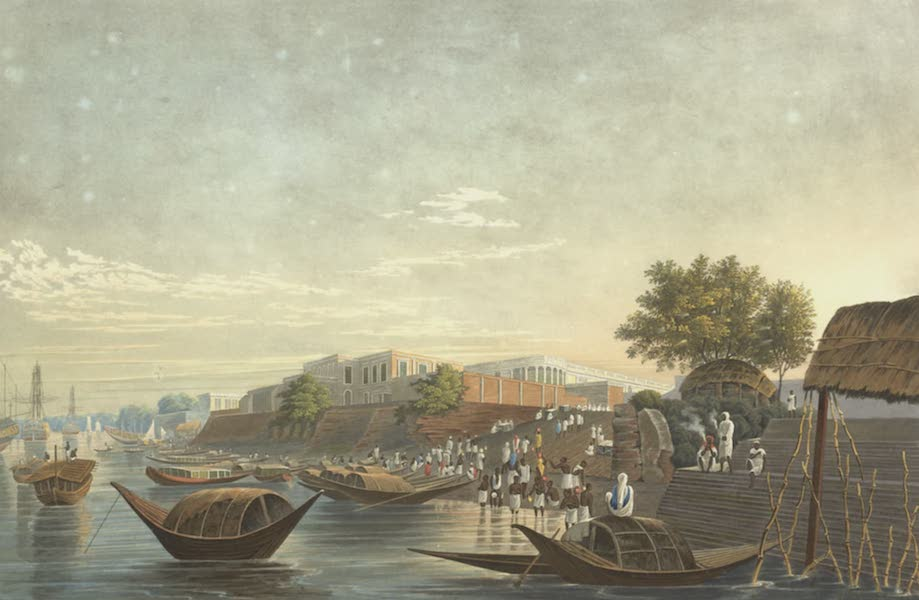 Views of Calcutta and It's Environs - A View of Chandpal Ghat (1826)