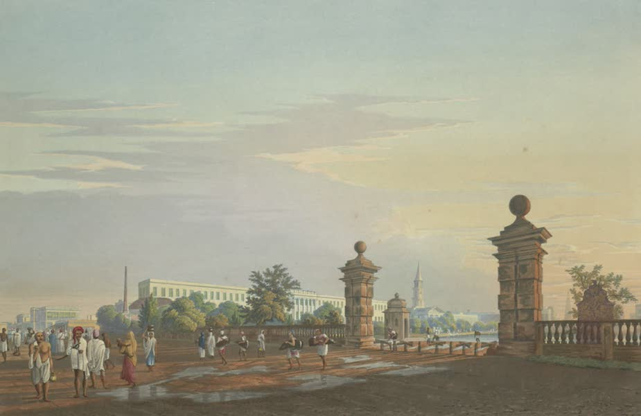 Views of Calcutta and It's Environs - A View of Tank Square, from the West (1826)