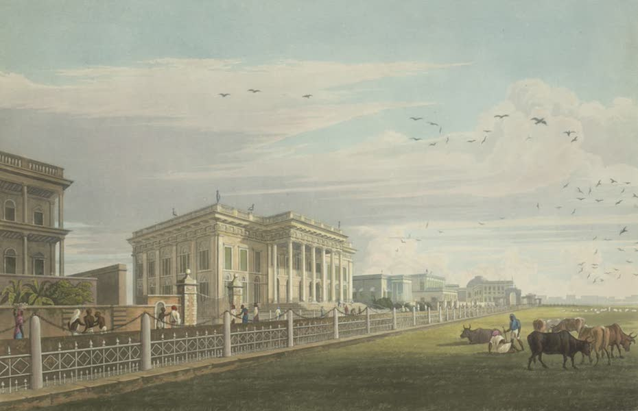 Views of Calcutta and It's Environs - A View of the Town Hall (1826)