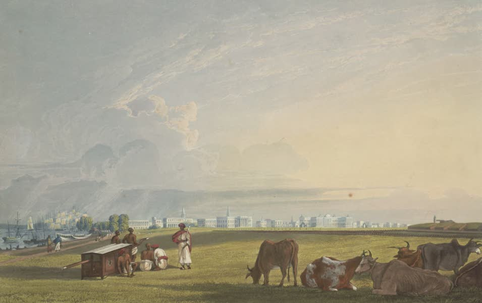 Views of Calcutta and It's Environs - View of Calcutta from the Glacis of Fort William (1826)