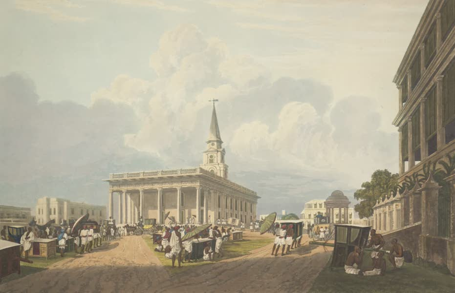 Views of Calcutta and It's Environs - View of St. John's Cathedral (1826)