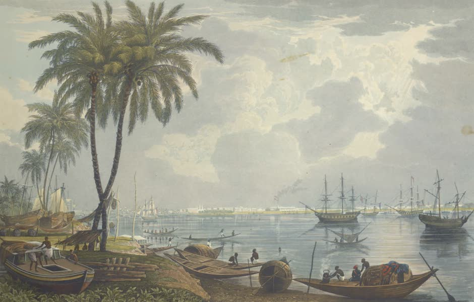 Views of Calcutta and It's Environs - A View of Calcutta from a Point opposite to Kidderpore (1826)