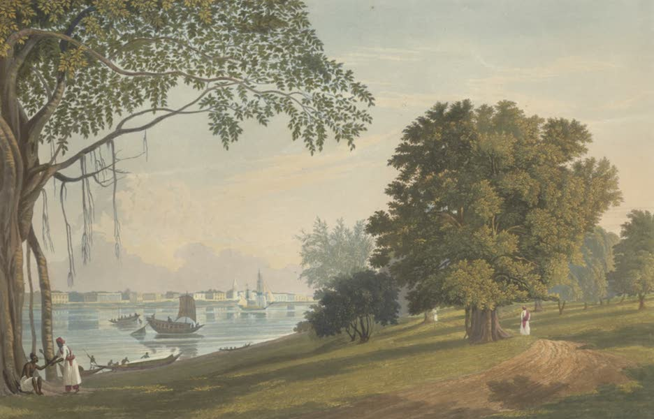 Views of Calcutta and It's Environs - A View of Serampore, from the Park at Barrackpore (1826)