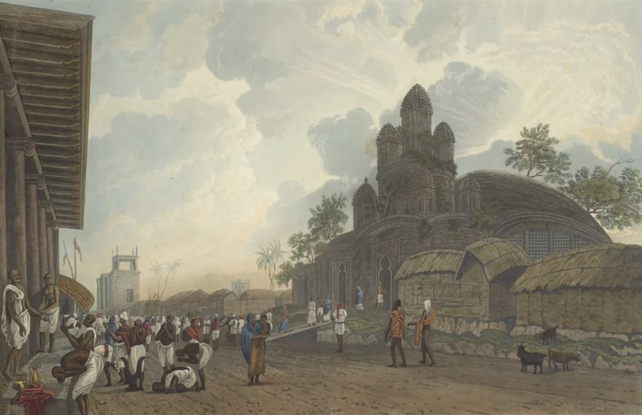 Views of Calcutta and It's Environs - A View of the Black Pagoda, on the Chitpore Road (1826)