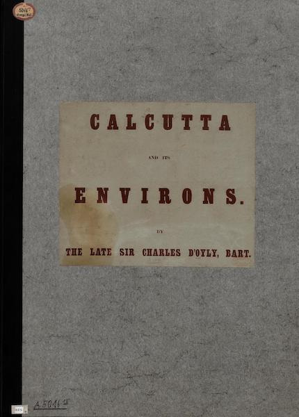 Views of Calcutta and its Environs - Front Cover (1848)