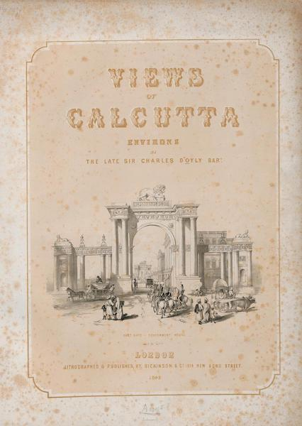 Views of Calcutta and its Environs - Title Page (1848)