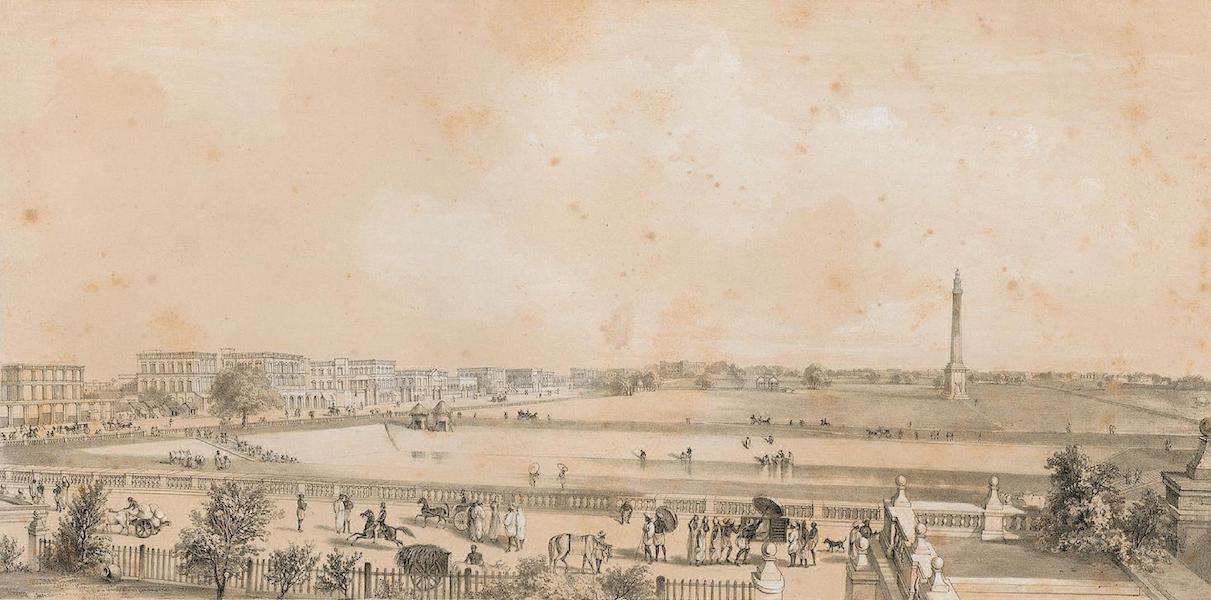 Views of Calcutta and its Environs - Chowrihghee Road from No XI Esplanade (1848)