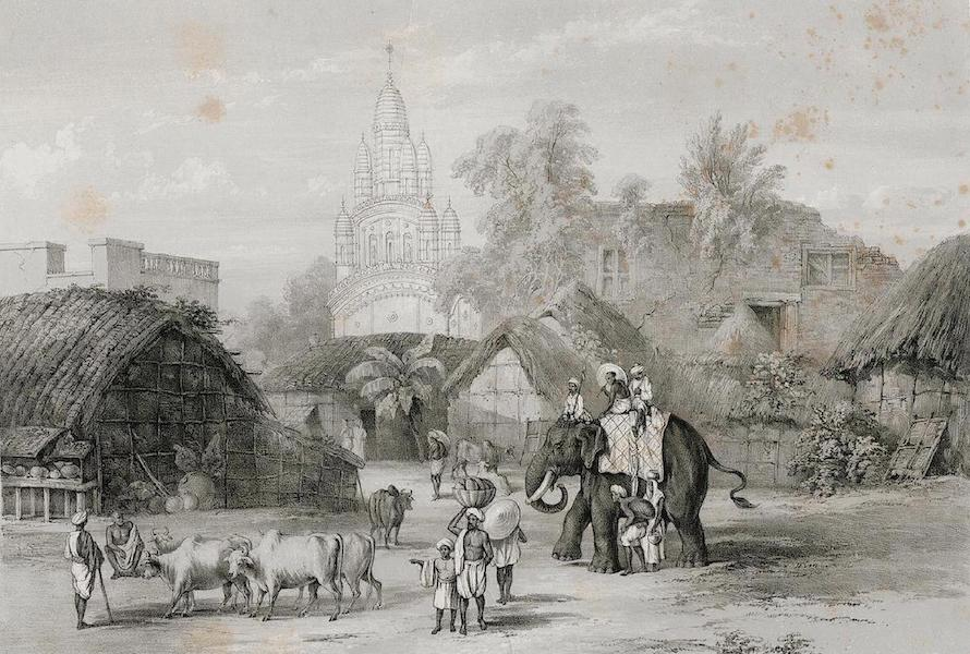 Views of Calcutta and its Environs - Hindoo Temple near the Strand Road (1848)