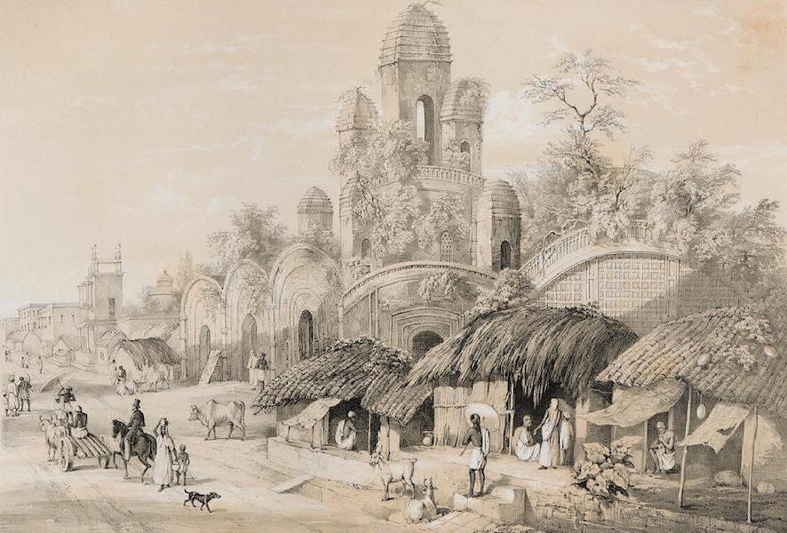 Views of Calcutta and its Environs - Hindoo Mut in the Chitpore Bazaar (1848)