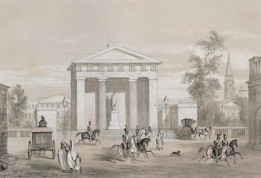 Views of Calcutta and its Environs - Statue of the Marquis of Hastings in Tank Square (1848)
