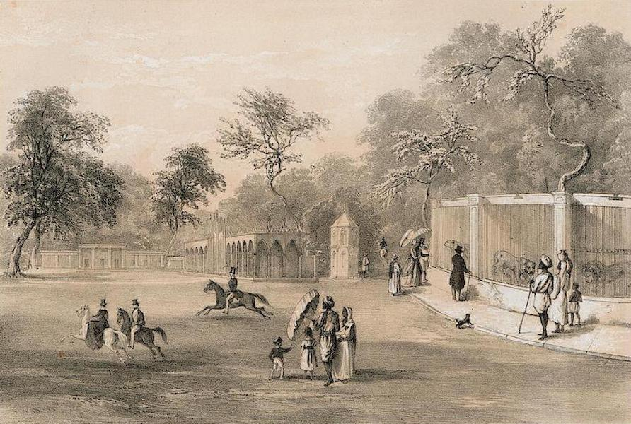 Views of Calcutta and its Environs - Menagerie at Baruckpore Park (1848)