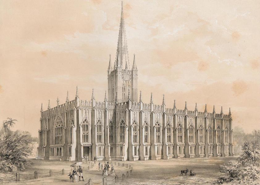 Views of Calcutta and its Environs - St. Paul's Cathedral, Calcutta (1848)