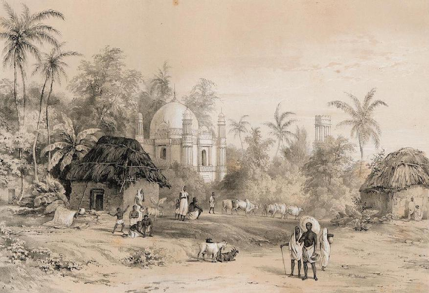 Views of Calcutta and its Environs - View in the Serampore Road (1848)