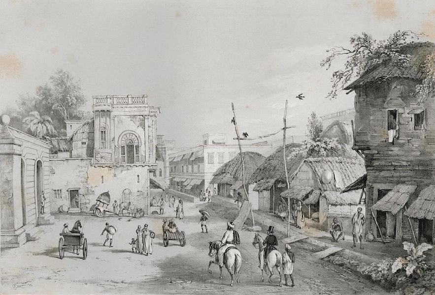 Views of Calcutta and its Environs - View in Clive Street (1848)