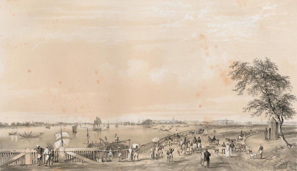 Views of Calcutta and its Environs - General View of Calcutta, from the entrance to the Water Gate of Fort William (1848)