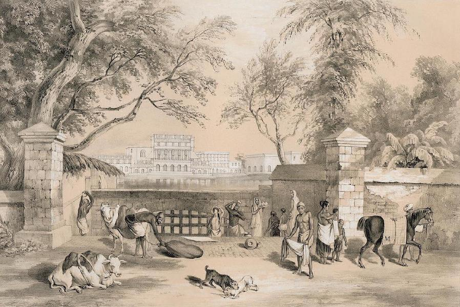 Views of Calcutta and its Environs - Office of the Sudder Boardof Revenue from Kyd Street (1848)