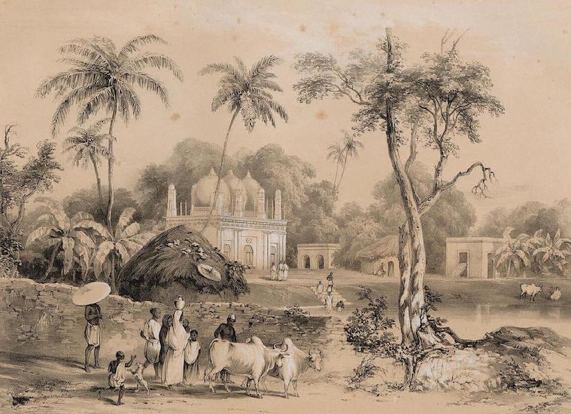 Views of Calcutta and its Environs - Mosque at Borranypore (1848)