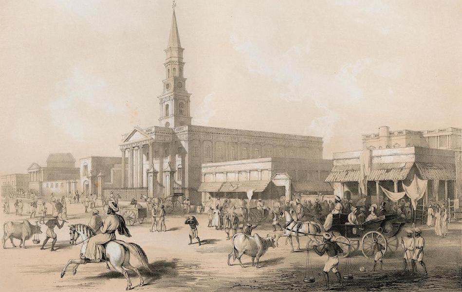 Views of Calcutta and its Environs - Church Entrance to the Dhurumtolla (1848)