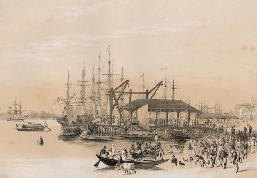 Views of Calcutta and its Environs - Custom House Wharf (1848)