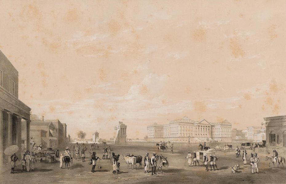Views of Calcutta and its Environs - Government House from St Andrews Library (1848)