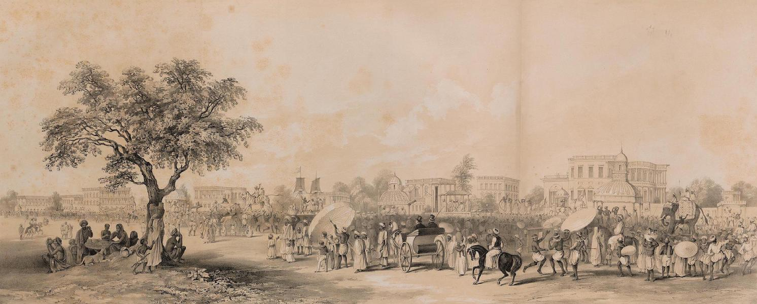 Views of Calcutta and its Environs - Procession of the Churruckpooja (1848)