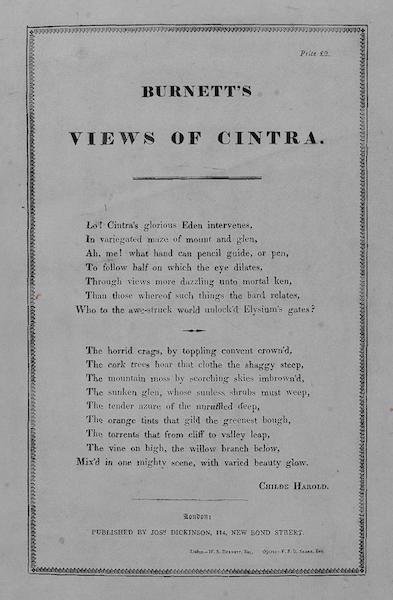 Views of Cintra - Title Page (1830)
