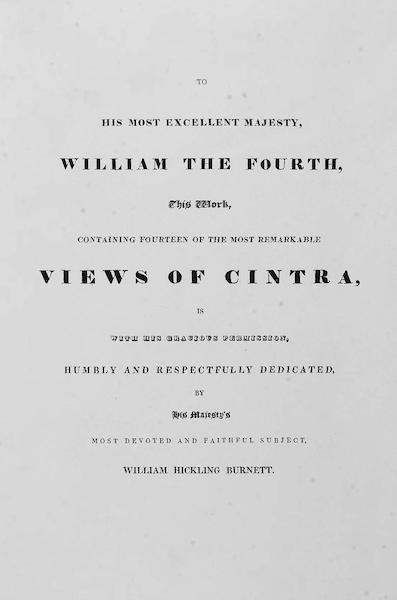 Views of Cintra - Dedication (1830)