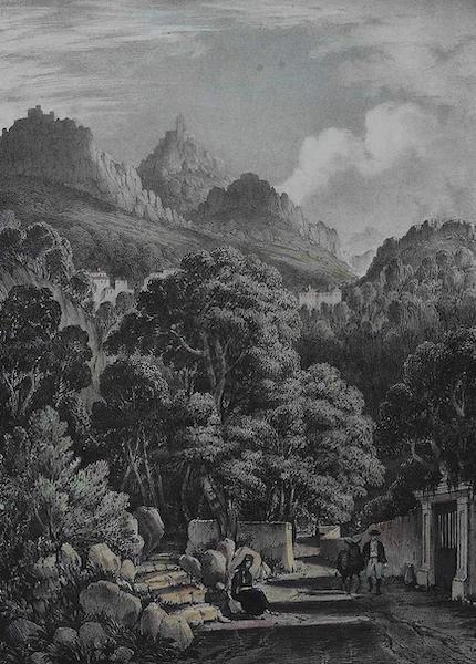 Views of Cintra - A Distant View of the Penna Convent (1830)