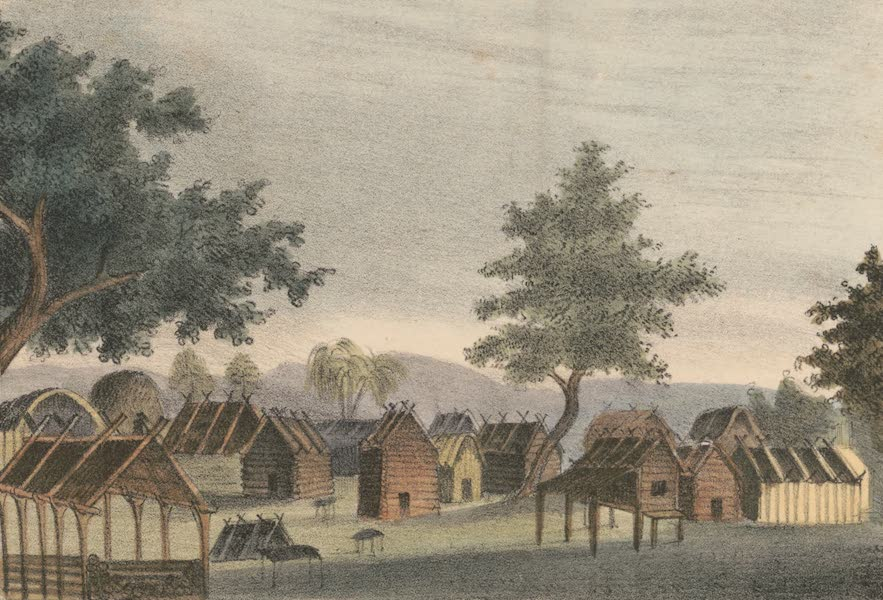 An Indian Town, Residence of a Chief