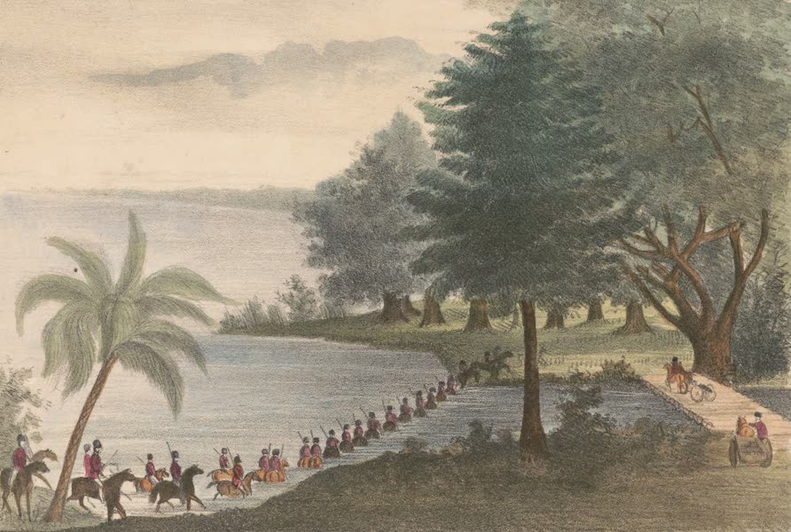 Troops Fording Lake Ocklawaha